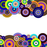 Circles  colorful pattern Royalty Free Stock Photography