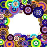 Circles  colorful pattern Royalty Free Stock Images