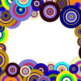 Circles  colorful pattern Stock Images