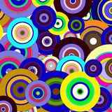 Circles  colorful pattern Royalty Free Stock Photo