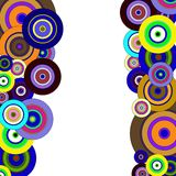 Circles colorful pattern Royalty Free Stock Image