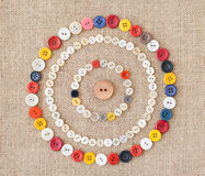 Circles of colorful sewing buttons.Background Royalty Free Stock Image