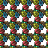Circles and colors pattern Royalty Free Stock Photo