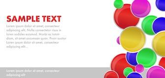 Circles. Colour colour vector backround Stock Photography