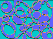 Circles Cut-out Blue stock image