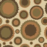 The circles deformed a vintage seamless texture. Seamless texture with the deformed circles in style a vintage Stock Photos