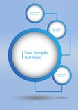 Circles design with shadow. Blue circles design with interior shade surround with text inside Royalty Free Illustration