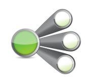 Circles diagram illustration design Stock Images