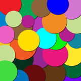 Circles of different colors Stock Photography