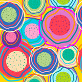 Circles of different colors. Seamless abstract pattern. Circles of different colors for your design. Vector Stock Image