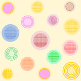 Circles with different patterns Stock Photo