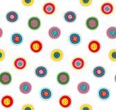 Circles Doodles Abstract Pattern Background Stock Photos