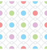 Circles and Dots Seamless Texture. Seamless graphic pattern ready to use Stock Photo