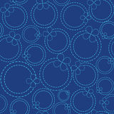 Circles dotted line. Models with dotted lines, circles and flowers vector illustration