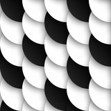 Circles with drop shadows. Seamles pattern of black and white circles with drop shadows. Vector illustration stock illustration
