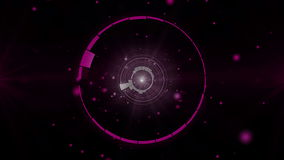Circles Equalizer bar frequency background 4K stock footage