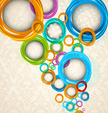 Circles on floral background Stock Image
