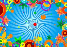 Circles and flowers Royalty Free Stock Photos