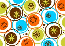 Circles and flowers pattern Stock Photo