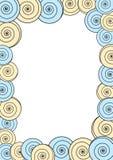 Circles frame border invitation card Royalty Free Stock Photo
