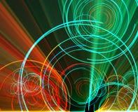 circles glowing Στοκ Εικόνες