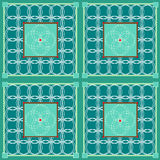 Circles in green quilt Stock Image