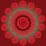Circles on green and red background. Stock Image
