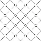 Circles grid stripped seamless pattern. Circles grid texture. Stripped geometric seamless pattern. Modern repeating stylish texture. Flat texture on white Stock Photography
