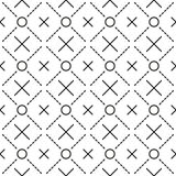 Circles grid stripped seamless pattern Royalty Free Stock Photo