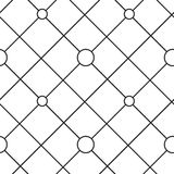 Circles grid stripped seamless pattern Royalty Free Stock Image