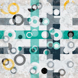 Circles grunge effect abstract geometric background Stock Photography