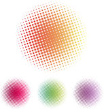 Circles with halftone. Of different colors Royalty Free Stock Photography