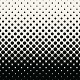 Circles halftone seamless geometric gradient black and white pattern. Background vector illustration