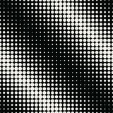 Circles halftone seamless geometric gradient black and white pattern. Background stock illustration