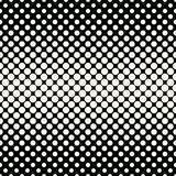 Circles halftone seamless geometric gradient black and white  pattern. Background Royalty Free Stock Photos