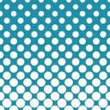 Circles halftone seamless geometric gradient blue  pattern Royalty Free Stock Photos
