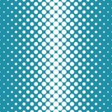 Circles halftone seamless geometric gradient blue pattern Royalty Free Illustration