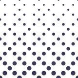 Circles halftone seamless geometric gradient blue pattern Stock Photo