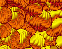 Circles of Hot Flames Stock Photography
