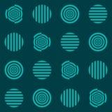 Circles, hypnosis stock illustration