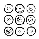 Circles Icons. Abstract Interior Poster to Print. Hand Drawn Dirty Grunge Style royalty free illustration