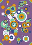 Circles. Illustration of different size circles in purple, light pink, green and marygold, colors of 2015 Royalty Free Stock Images