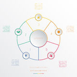 Circles infographic five positions Royalty Free Stock Photography