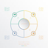 Circles infographic four positions Stock Photo