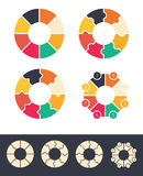 Circles for infographic set Royalty Free Stock Photos