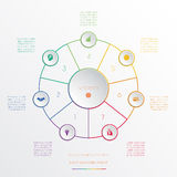Circles infographic seven positions Royalty Free Stock Photography