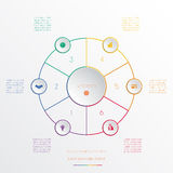 Circles infographic six positions Royalty Free Stock Image