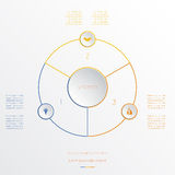 Circles infographic three positions Stock Photography