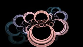 The circles of innocence. Fractal colorful motion footage stock illustration