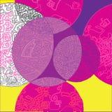 Circles and labyrinths vector seamless pattern Stock Photos